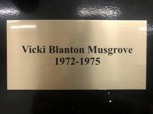 1972-1975 Vicki Blanton Musgrove