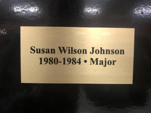1980-1984 Susan Wilson Johnson - Major