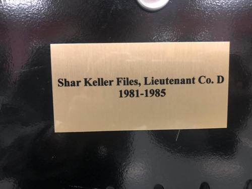 1981-1985 Shar Keller Files, Lieutenant Co. D